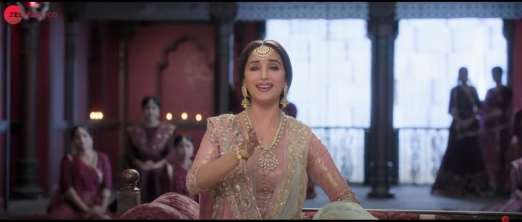 Madhuri Dixit as Baahar Begum, once courtesan now music teacher
